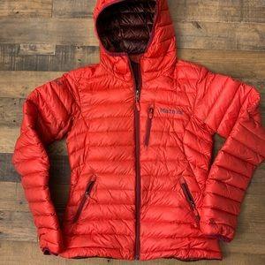 Marmot down hoodie jacket